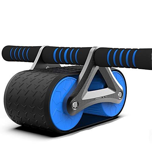 Ab Roller, ab Wheel, Ruota Allenamento for Addominali, for Il Fitness e l'allenamento dei Addominali/Muscoli delle Spalle/Muscoli delle Braccia (Color : Black+Blue)