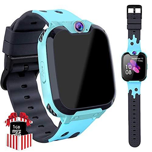 Game Smart Watch Phone per Studenti, Ragazzi e Ragazze 1.5 HD Touch Screen a Schermo Piatto Informazioni su MP3 Lettore Fotocamera Sveglia, 3-12 Anni Regalo Per Bambini (X9 Blu)