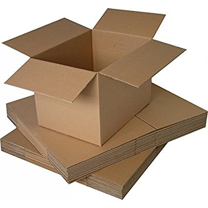 EZELLOHUB Packaging Corrugated 5 Ply Carton Boxes (Brown, 16x16x10 Inches) - Pack of 5