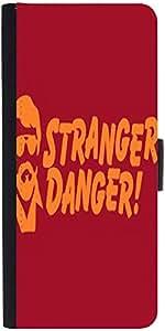 Snoogg Stranger Danger 2909 Designer Protective Flip Case Cover For Samsung G...
