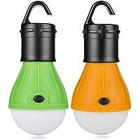 KanCai Tienda de campaña luces Farol de Camping,linterna led Portátiles LED Lampara de Camping luz para Camping,Luz de Emergencia,Pesca,Senderismo,Exterior e Interior(Paquete de 2)