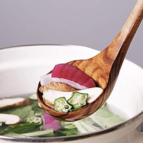 AOOSY Küchenhelfer Set Holz,5 Stück Küchenutensilien-Sets,Kochutensilien-Set aus Holz im japanischen Stil Kratzfeste Utensilien-Sets einschließlich Holzspatellöffel für Antihaft-Pfannen - 5