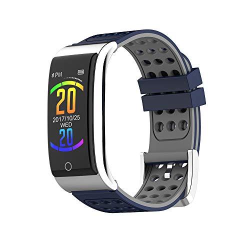 YAONING Bluetooth Smart-Armband, Fitness-Tracker, Herzfrequenz-Blutdruck-Schlafmonitor, EKG + PPG, wasserdichte Smart-Uhr, für iOS, Android