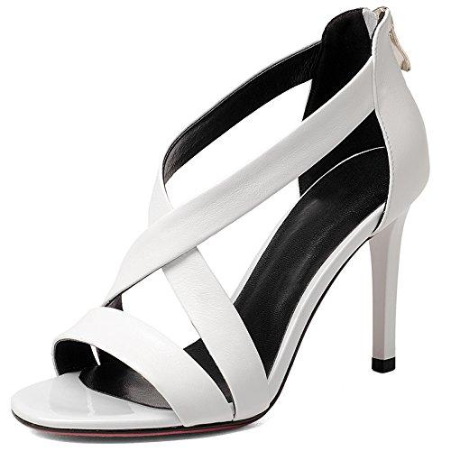 Tacco Bianco tacco sandali dell'alto tallone di moda SCARPE DONNA White