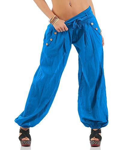 77838f845fce Moda Italy Pantaloni Harem con cintura Pantaloni a sbuffo Colori Uni Pantaloni  a palloncino Pantaloni alla