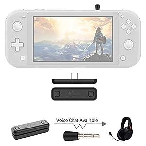 Sutefoto Bluetooth Adapter Kompatibel für Nintendo Switch & Lite, PS4 / PC, Sprach-Chat im Spiel mit APTX Kabelloser…
