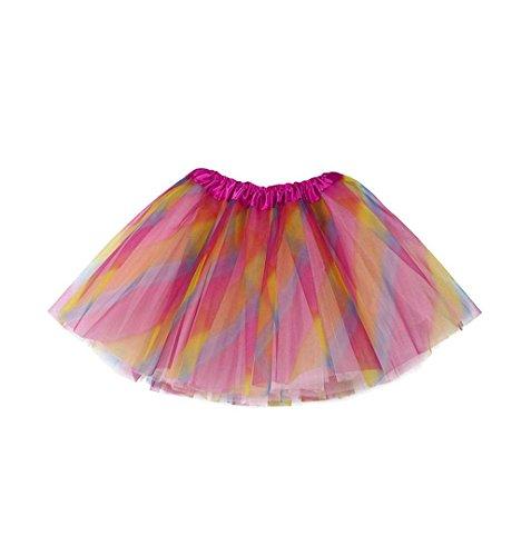 chen Tütü Tüllrock Mädchen Ballet Tutu Rock Kinder Petticoat Unterrock Ballett Kostüm Tüll Röcke Erwachsene Pettiskirt Baby Strampler Ballerina Petticoat (One Size, Mehrfarbig) (Kid Rock Kostüme)