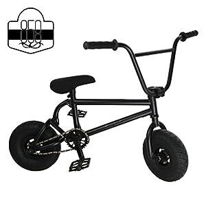 Mini BMX Freestyle Bike?Licht Fat Reifen mit Profilsenkereinsätze Kurbel & Spring Zubehör für PRO zu Anfänger?Diese Bad Boy Fahrräder sind ideal für Stunt Trick & Racing (schwarz) von Ride 858