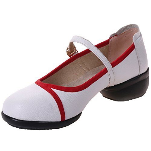 Oasap Femme Chaussure Mary Janes Bout Rond Fermé Danser white