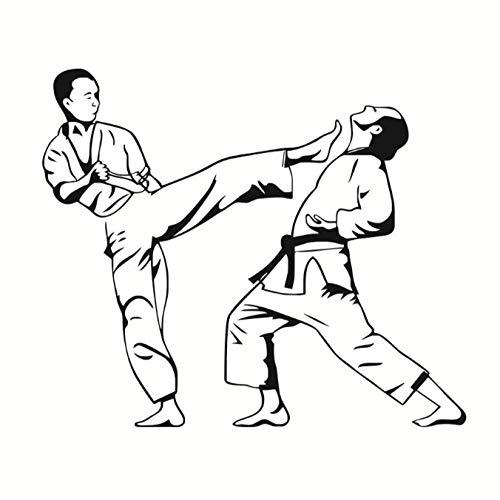 NKJBUVT Kinder Schlafzimmer Karate Kick Spiel Wandtattoo Vinyl Kunstwanddekor Aufkleber Wandbild Wohnkultur Zubehör 52 * 44 cm