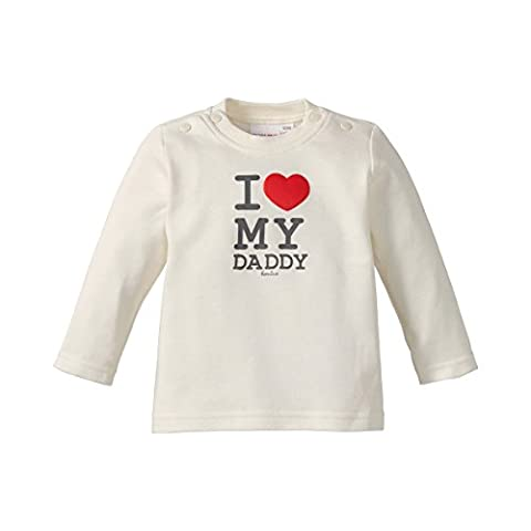 BORNINO Le T-shirt à message I love my Daddy top bébé vêtements bébé, taille 86/92, blanc