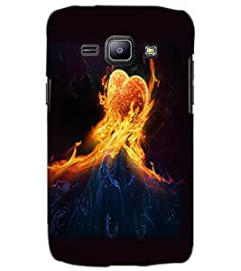 SAMSUNG GALAXY J1 FIRE HEART Back Cover by PRINTSWAG