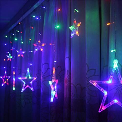 TAOtTAO Romantisch 4M / 200LED Sterne Weihnachten Hängenden Vorhang Lichter String Net Weihnachten Home Party Home Decor (Mehrfarbig)