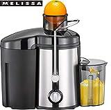 MELISSA 16230040 Entsafter, Gemüsesaft,Edelstahl, mit 0,45 Liter Saftbehälter, Für Obst und...