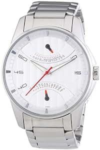 Puma Time Herren-Armbanduhr XL 24H Race Metal Silver Red Analog Quarz Edelstahl PU102391006