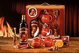 Feuerzangen Geschenkset rot 1l Glühwein 40 ml Rum