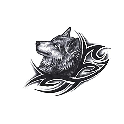 Fangfeen Wolf-Kopf-Wasserdicht temporäre Körper-Arm-Bein-Kunst-Aufkleber Frauen Männer Wasser Fake Tattoo übertragen