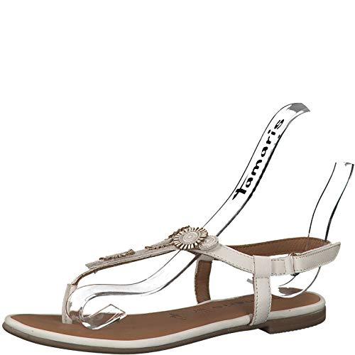 Tamaris 1-1-28150-22 Damen Riemchensandale,Sandale,Sandalette,Sommerschuh,bequem,flach,Touch-IT,Ivory,41 EU Nude Patent Leather