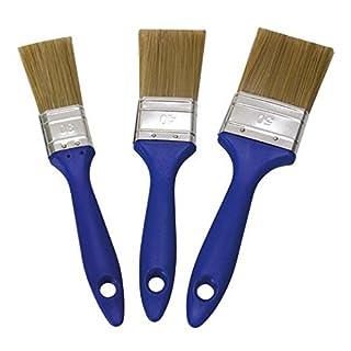 Acryl Flachpinsel Set 3 teilig - Flachpinsel mit Kunstborste