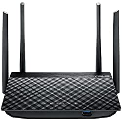 Asus RT-AC58U AC1300 Dual Band Gigabit Wireless Router (Black)