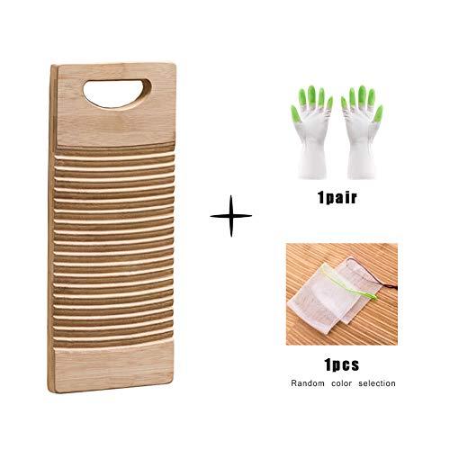 ZXXY Tabla Lavar, Tabla lavadero Duradera Madera bambú