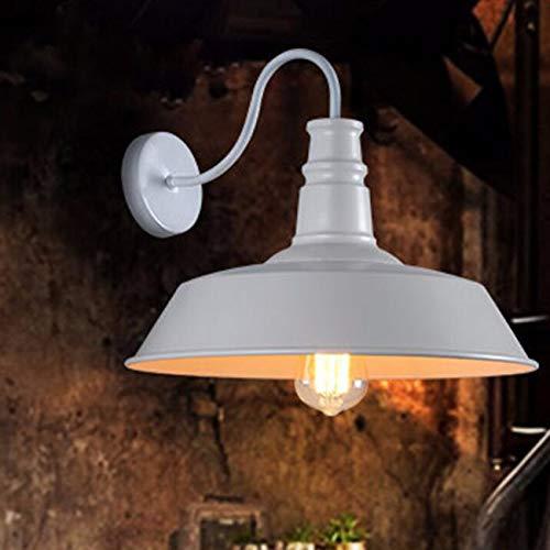 Personnalité nostalgique industrielle loft lampe murale pot antique européenne, blanc