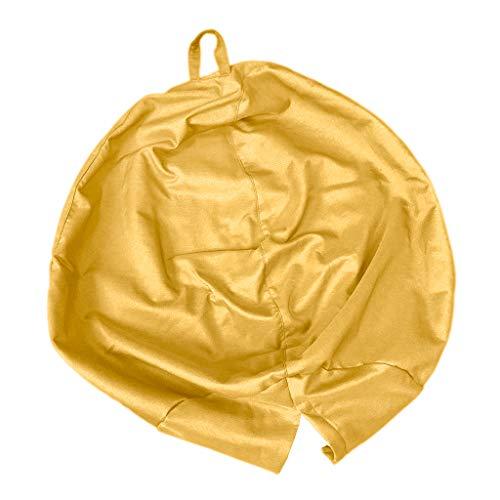 FLAMEER Sitzsackhülle Riesensitzsack Sitzsack Bezug Hülle ohne Füllung, Farbwahl - Golden