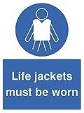 Nouvelle-Calédonie Signes 13022e vie Vestes doit être porté Panneau, en plastique rigide, E: 200mm x 150mm