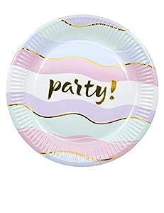 Procos plato metalizado 20cm Elegant Party, Multicolor, 5pr89968