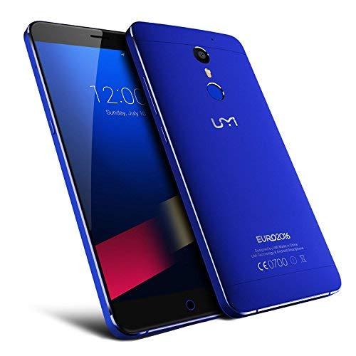 UMI super Exklusives Euro-Version - Premium-Android 6.0 Smartphone 5,5 Zoll FHD Dual-SIM-4GB RAM 32GB ROM MTK6755 2.0GHz Blau