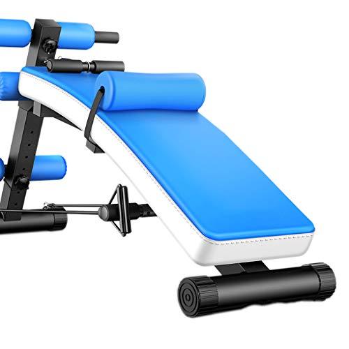 Olympia-Hantelbänke Sit-ups Bauch Maschine Bauch Ausrüstung Multifunktions Rückenlage Hantel Bank Heimfitnessgeräte (Color : Blue, Size : 176 * 58 * 77cm)
