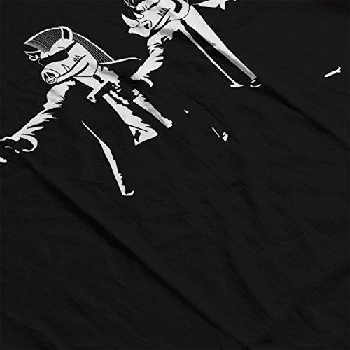 Mutant Fiction Teenage Mutant Ninja Turtles Pulp Men's Vest Black