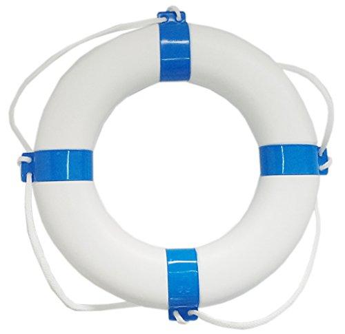 Rettungsring Rettungsreifen Außendurchmesser 57 cm, Farbe weiß / blau