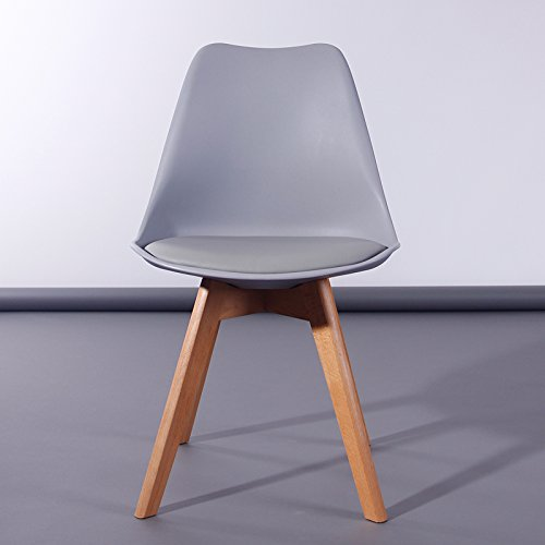 Lavin Lifestyle Grey Dining Chair Natural Solid Wood Legs With Cushioned  Pad Contemporary Designer For Office Lounge Dining Kitchen