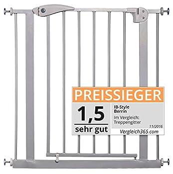 ib style- Berrin Barrière de sécurité 75-175 cm   Auto-Close   90°Arrêt   utilisation à une main ARGENTÉ