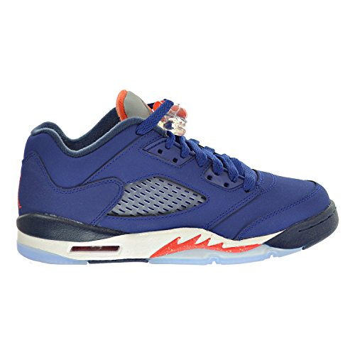 Jordan Air 5 Retro Low (GS) Big Kinderschuhe Blau/Orange/Weiß 314338-417 (4 M US) M US-Kleinkind Blau/Orange/Weiß