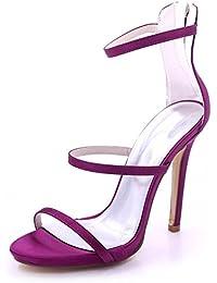 L@YC Sandalias de La Boda de La Dama de Honor del Alto-Tacón Peep de Las Mujeres Prom 3-8 Court Shoes 7216-05