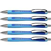 Schneider Slider Rave XB Kugelschreiber (Strichstärke: XB, dokumentenechte Mine, Made in Germany) 5 Stück, Schreibfarbe: blau
