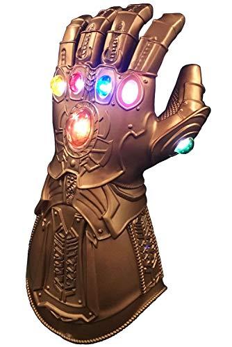Handschuh Kostüm Gauntlet - Thanos Endgame Infinity Gauntlet LED leuchten PVC-Handschuh Cosplay Prop Kostüm