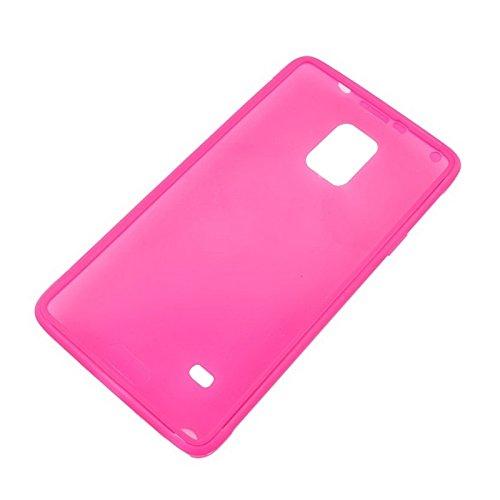 wkae Schutzhülle Fall und Abdeckung horizontal Flip Touch Bildschirm Frosted TPU Schutz Hülle für Samsung Galaxy Note 4/N910 magenta
