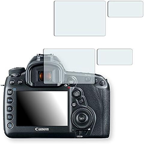 2x Golebo Semi-Matt protectores de pantalla para Canon EOS 5D Mark IV - (efecto antirreflectante, montaje muy fácil, removible sin residuos) (Intencionadamente es más pequeña que la pantalla ya que esta es curva)