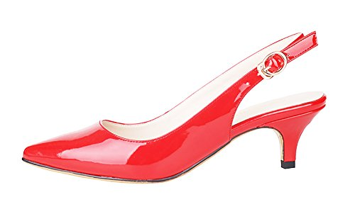 NIUERTE NIUERTEWife - A Collo Alto donna Red Patent