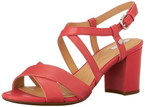 Geox D Nesa C, Sandales Femme Rouge (C7008)