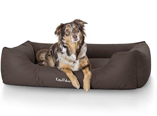Knuffelwuff 13092 Wasserfestes Pflegeleichtes Hundebett Finlay - Größe M - L, 85 x 63 cm, braun