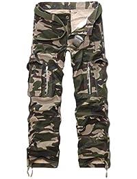 Cayuan Hommes Pantalon Cargo avec Multi Poches Camouflage Treillis  Militaire Pantalons Coton Casual en Plein Air Pantalon de Travail… c6d520b7964