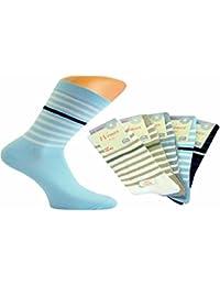 5 Paar Damen Socken Komfortbund ohne Gummi soft cotton mit Karo Muster von Art-of-Baan