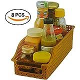 INOVERA (LABEL) Fridge Food Storage Organizer Basket Rack (Set Of 8), Assorted Color, 26L X 10B X 8H Cm.