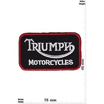 Motorrad Motorcycle- Motorsport Patch Classic Triumph Auto gelb Aufnäher Embleme Bügelbild Aufbügler Patches Racing Car Team