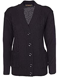 Lets Shop Shop New Classic Womens Cardigan Ladies Sizes 10-20 Cable Knit  Long Sleeve 781eee71b