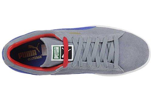 Puma Suede Classic RTB Herren Sneaker Schuhe Leder grau blau 356850 06 tradewind-blue-red-white-gold
